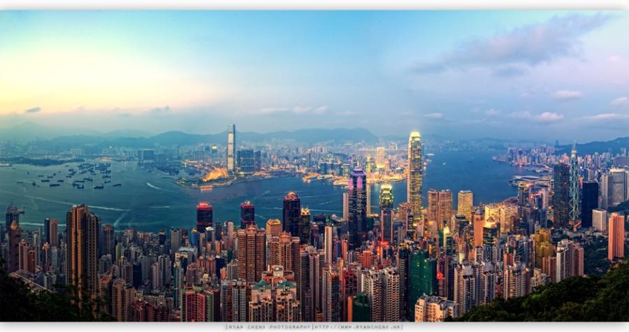 香港香港夕色